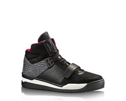 hightop sneaker in mesh